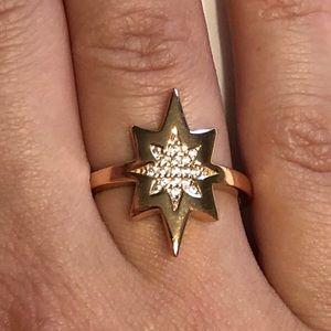 Lucky Brand | Rose Gold over Sterling Star Ring
